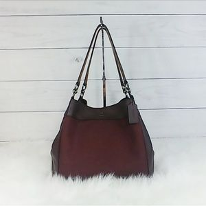Coach Lexy Jacquard and Leather Shoulder Bag